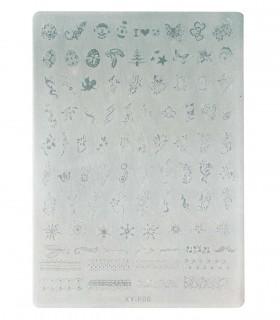 شابلون پلاستیکی ناخن متوسط شماره XY-F 06